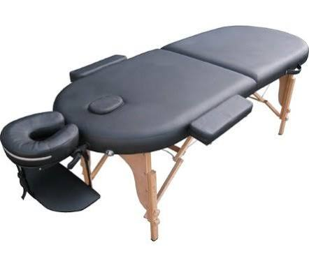 Oval PU Portable Massage Table Bed w/Free