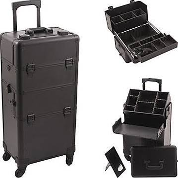Black Pro 4-Wheel Makeup Case