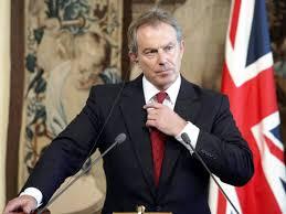 Tony Blair, exprimer ministro de Gran Bretaña