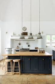 A Lovely Big Island By DeVOL With Oiled Oak Worktops To Match Our Weathered Stools Navy KitchenBlue