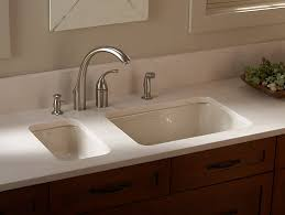 Kohler Sink Rack Almond by K 6585 Iron Tones Rectangular Top Mount Or Under Mount Kitchen