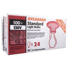 shop sylvania 24 pack 100 watt a19 medium base soft white