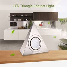led triangle light cabinet lighting for kitchen counter cool