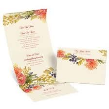 Fall Wedding Invitations Florals Seal And Send Invitation
