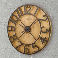 Bulova Table Clocks Wood by Wall Decor Clocks Wall Decor