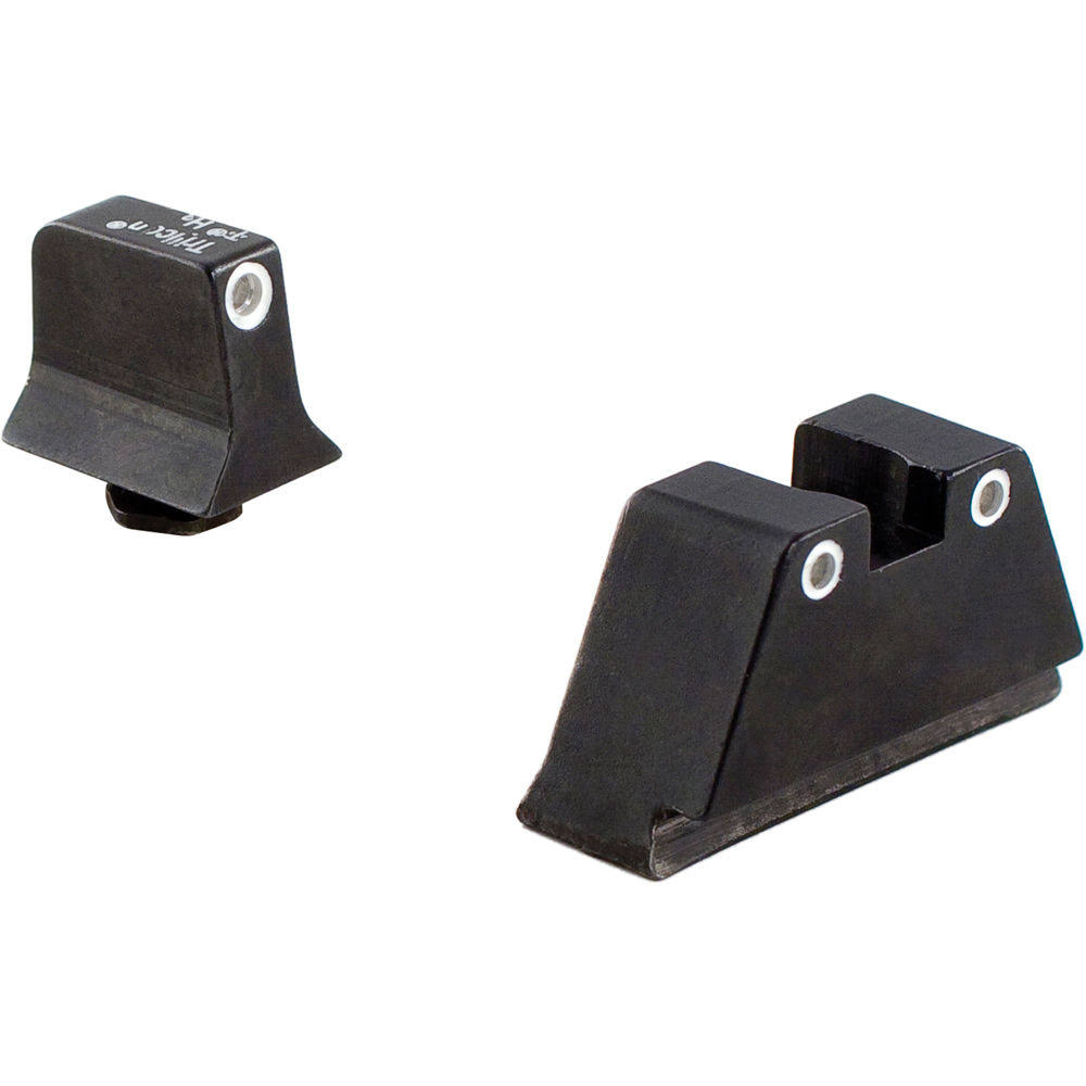 Trijicon Suppressor White Outline Night Sight Set - with Green Lamps, for Glock Models