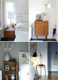 traditional wooden bedside table design ideas with many shape and