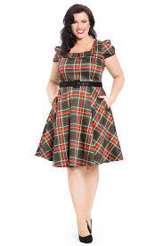 Emmie Tartan Plus Size Dress