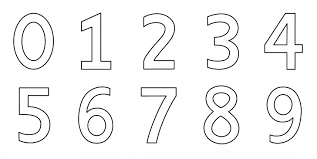 Numbers Coloring Page Clip Art For Number 2 Educations