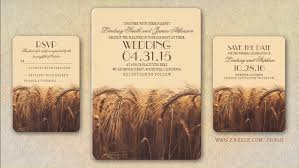 Rustic Country Wedding Invitations Fall