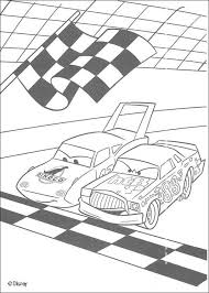 Racing Between Chick Hicks And The King Coloring Page