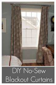 Dritz Home Curtain Grommets Instructions by Diy No Sew Blackout Curtains Incredibly Easy All You Need Is