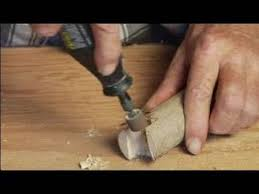 how to make a wood walking cane using rotary tool to smooth