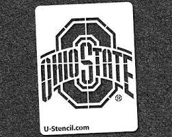 Ohio State Brutus Pumpkin Stencil by Ohio State Stencil Etsy