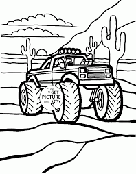 Monster Truck In The Desert Coloring Page For Kids, Transportation ... Monster Truck Coloring Pages Printable Refrence Bigfoot Coloring Page For Kids Transportation Fantastic 252169 Resume Ideas Awesome Inspiring Blaze Page Free 13 Elegant Trucks Hgbcnhorg Of Jam For Grave Digger Drawing At Getdrawingscom Online Wonderful Grinder With Ovalme New Scooby Doo Collection Latest