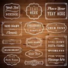 Photoshop Clipart Overlay Vintage Frames Rustic