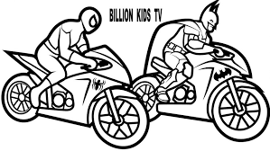ColoringColor Motorcycles W Spiderman And Batman Coloring Pages For Kids Book Maxresdefault Books