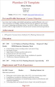 Sample Plumbing Resume Template