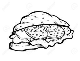 Croissant Doodle Stock Vector
