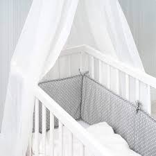 fillikid cot bumper for side cots cot and bassinet soft