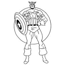 Avengers Team Picture To Color Free Printable Coloring Pages Of Character Captain America
