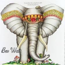 Animorphia Elephant Animorphiacolouringbook Kerbyrosanes Prismacolor Coloring