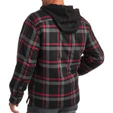 faded glory hooded flannel shirt jacket walmart com