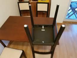 esszimmertisch roller und 4 stühle ikea in 53175 bonn