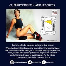 Jamie Lee Curtis Halloween 2017 by Celebrity Patent Jamie Lee Curtis Patented A Diaper With A