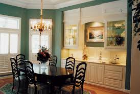 Built In Cabinetry And Glass Display Units For Dining Rooms