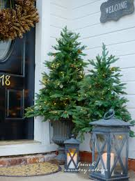 Potted Christmas Tree by Decorating With Potted Trees Balsam Hill Artificial Christmas