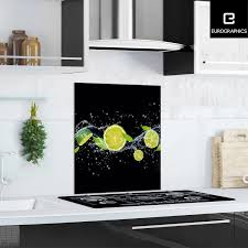 kitchen glas spritzschutz fresh lime diving 60 cm x 65 cm