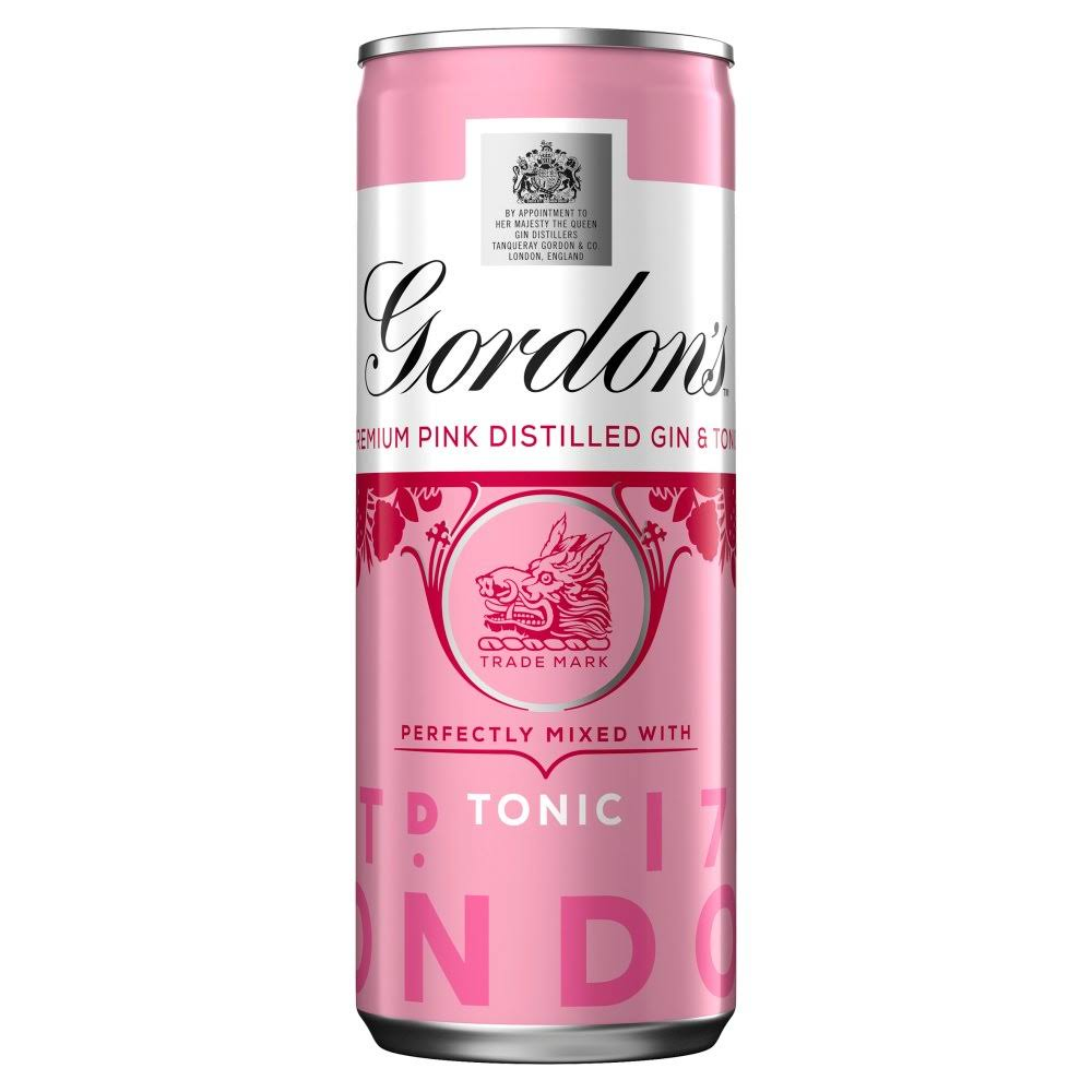Gordon's Premium Pink Gin and Tonic - 250ml