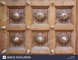 Ornate Carved Wood And Brass Design On A Temple Door Stock Photo ... Door Design Pooja Mandir Designs For Home Images About Room Beautiful Temple At And Ideas Amazing A Hypnotic Aum Back Lit Panel In The Room Corners Stunning Front Enrapture Garden N Inspiration Indian Webbkyrkancom The 25 Best Puja Ideas On Pinterest Design Wonderful Wooden Best Interior Interior 4902