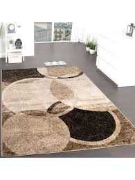 paco home designer teppich wohnzimmer teppich kreis muster in braun beige preishammer klingel