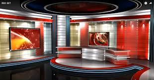 Newsroom Virtual Set