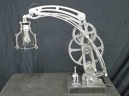 Laser Cut Lamp Dxf by Heavy Steel Steampunk Style Mechanical Desk Lamp Industrial Age