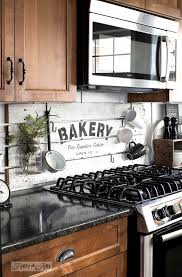 Shiplap Styled BAKERY Kitchen Sign Wood BacksplashBacksplash Dark CabinetsCountry