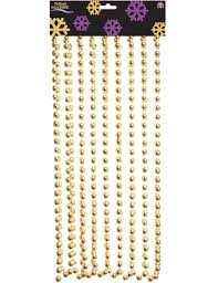 Christmas Tree Bead Garland Uk by Christmas Xmas Bead Chain Garland 2 7m Gold Ideal For Tree