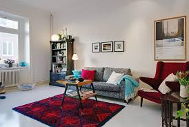 Apartment Bedroom Sympathetic Lovable Red In Decorating Ideas For College Students With Regarding Household
