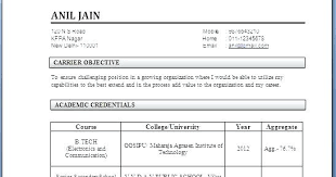 Resume For Ece Format Freshers Engineers With Regard To