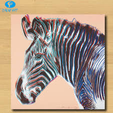Huge Grevys Zebra Pop Art Print On Canvas Wall Painting Picture Home