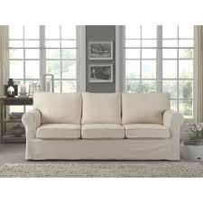 canap cosy cosy canapé droit 3 places 100 coton écru achat vente canapé