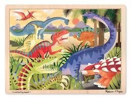 melissa doug dinosaurs 24 pc wooden jigsaw puzzle