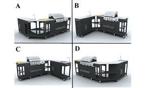 barbecue gaz inox grand meuble cuisine exterieur cuisines