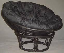 Microsuede Folding Saucer Chair by Furniture Black Rattan Papasan Chair With Black Cushion Ideas