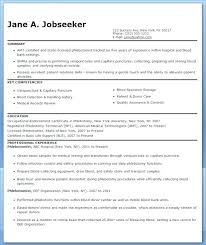 Resume For Phlebotomist Cover Letter Free Sample Examples