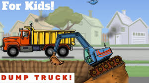 Dump Truck Video For Kids L Lots Of Trucks! - YouTube