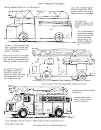99 How To Draw A Fire Truck Step By Step Kids Free Printable Drawing Worksheets Ing Worksheets