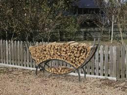 Metal Outdoor Firewood Log Rack with Kindling Holder
